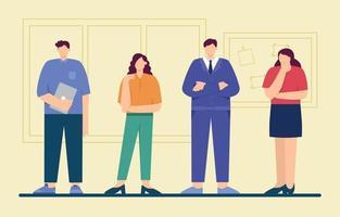 grupo de personas de negocios personaje vector