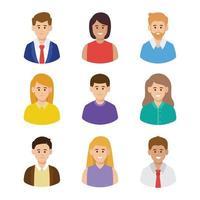 conjunto de avatar de grupo empresarial vector