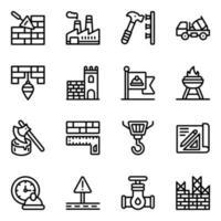 conjunto de construcción vector