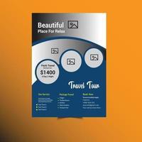 Travel Business Flyer Template vector