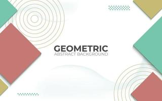 abstract geometric background. 3d banner vector illustration.