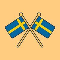 ilustración de icono de bandera de suecia vector