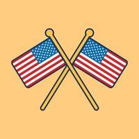 Ilustración de icono de bandera de Estados Unidos vector