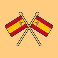 Spain flag icon illustration vector