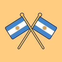 ilustración de icono de bandera argentina vector