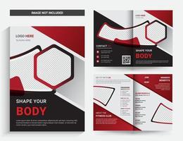 Plantilla de folleto de gimnasio y fitness vector