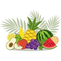 bodegón de frutas vector