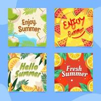Colorful Fruity Summer Season Card vector