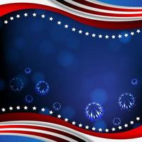 America Independence Day Celebration Background vector