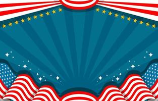 Flat Design with American Flag Background vector