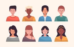 People Avatar Image Set vector