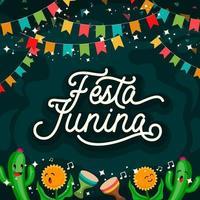 Festa Junina Celebration Poster Illustration vector