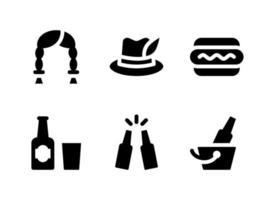 Simple Set of Oktoberfest Related Vector Solid Icons