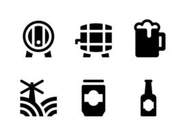 Simple Set of Beer Related Vector Line Icons