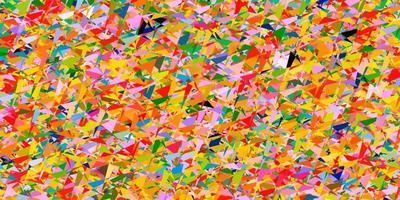 Light Multicolor vector pattern with polygonal style.
