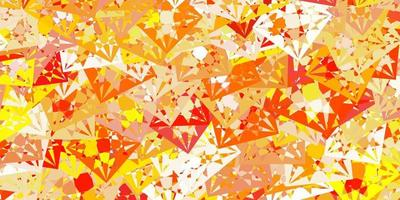 Light Orange vector pattern with polygonal shapes.