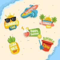 Set of Summer Badges vector