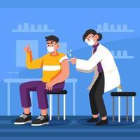 COVID-19 Vaccine Concept vector