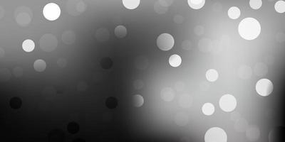 textura de vector gris oscuro con discos.