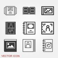 Photo album icon vector