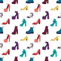 female shoes seamless pattern. vector illustration