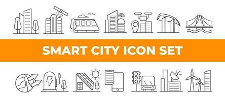 Smart City Icon Set vector