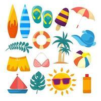 Summer Element Icon Set vector