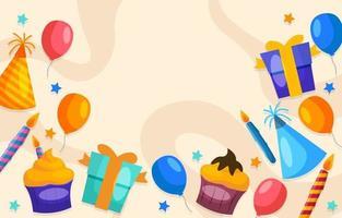 plantilla de fondo de fiesta de cumpleaños vector