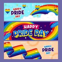 Pride Day Banner Collection vector