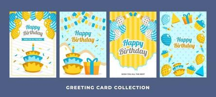 Collection of Happy Birthday Cards vector
