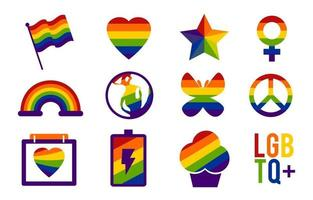 Pride Day Icon Set vector