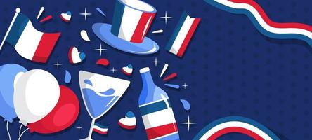 Bastille Day Background vector
