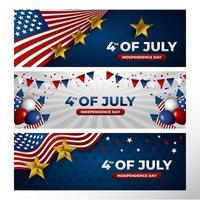 4th Of July Banner Collection vector