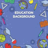 Education Background With Flat Color vector