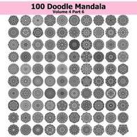 Doodle mandala tattoo ornamental ethnic pack collection set. Floral art design vector. vector