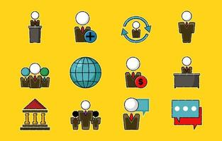 People Business Icon Set vector