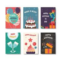 Birthday Card Set vector