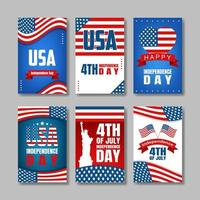 4th July Card Collection vector