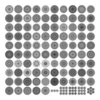 Various Pattern collections - 100. Mandala pattern set. Doodles freehand vector