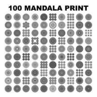 Mandala tattoo ornamental ethnic pack collection set. Floral art design vector. vector