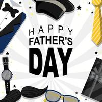 Happy Father's Day Background With Black Color Dominant vector