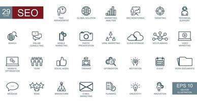 gran negocio conceptual conjunto de 29 iconos de ceo - vector