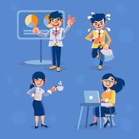 Set of Business People Characters at Office vector