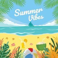 Summer Vibe Holiday vector