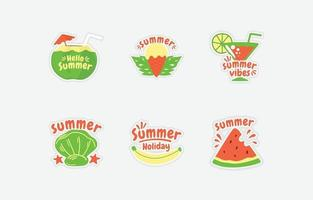 Summer Fun Sticker vector