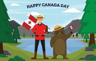Happy Canada Day Illustration vector