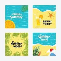 Summer Fun Social Media Post vector