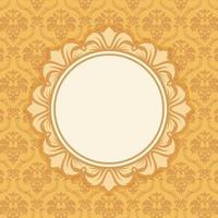 Vintage Background with Damask Patterns vector