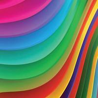 ola de colores de fondo abstracto vector