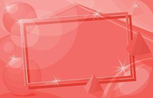 Pink 3D background frame vector